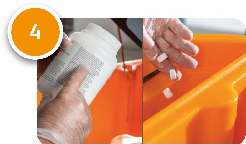 Periodische Systemdesinfektion mit Chlor