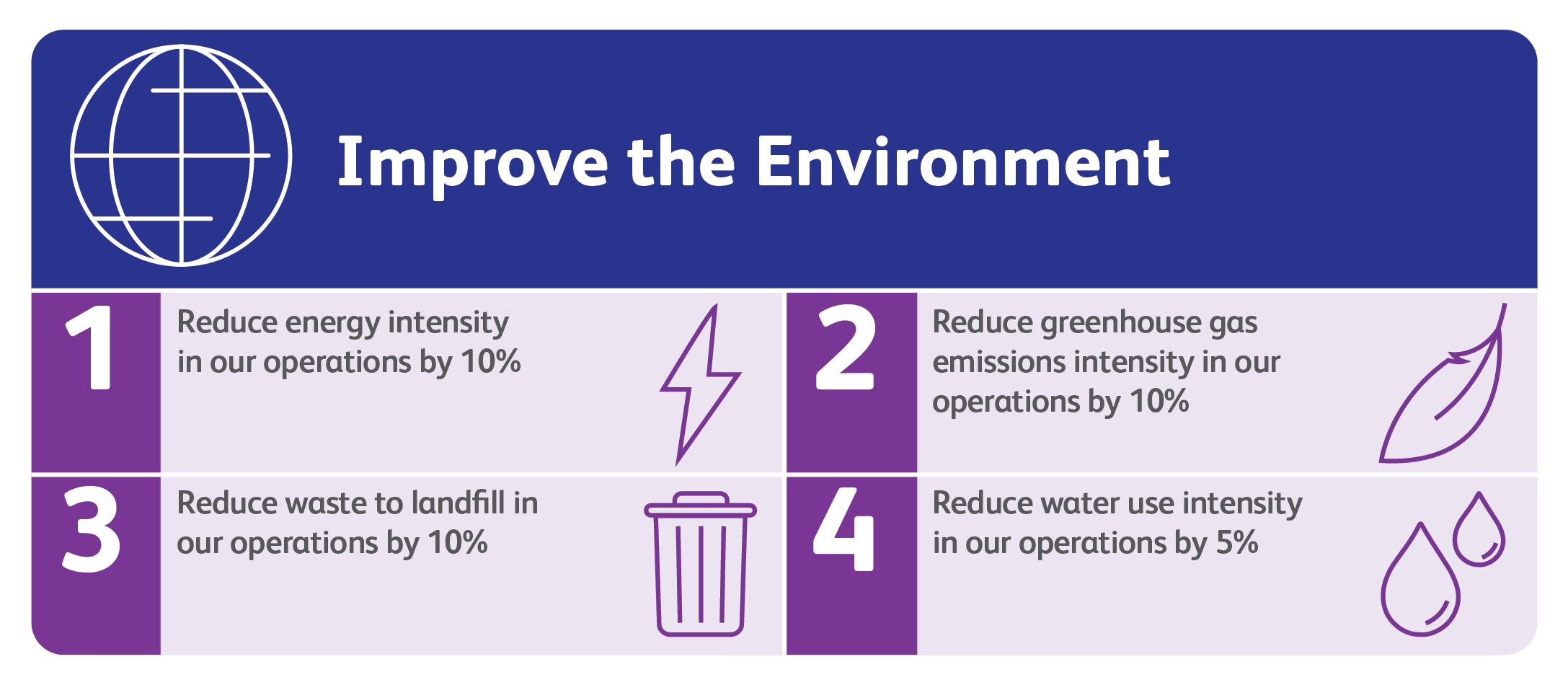 2025 environmental goals infographic
