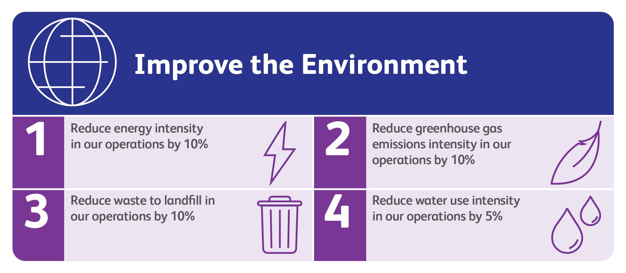 2025 environmental goals infographic